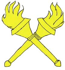 Badge - Crossed Torches